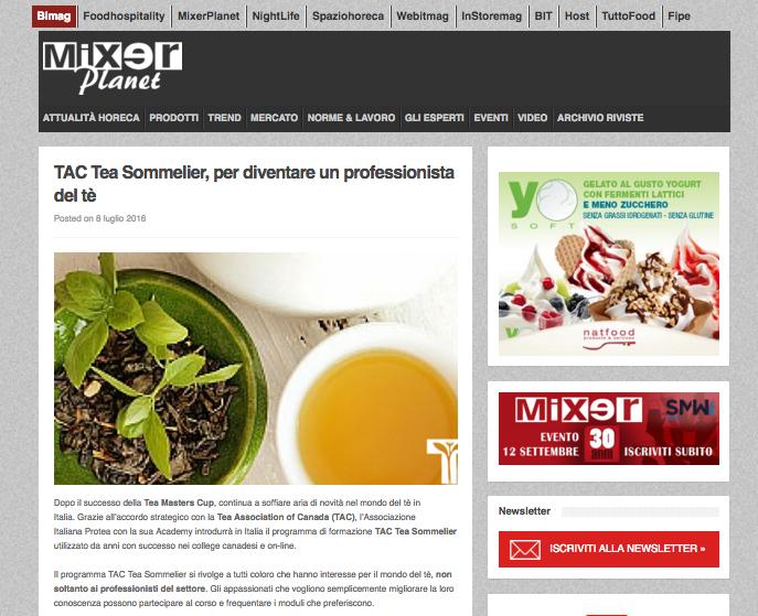 I corsi sul tè di Protea e Tac segnalati da Mixerplanet