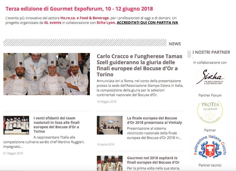 Protea Academy, Partner Forum di Gourmet